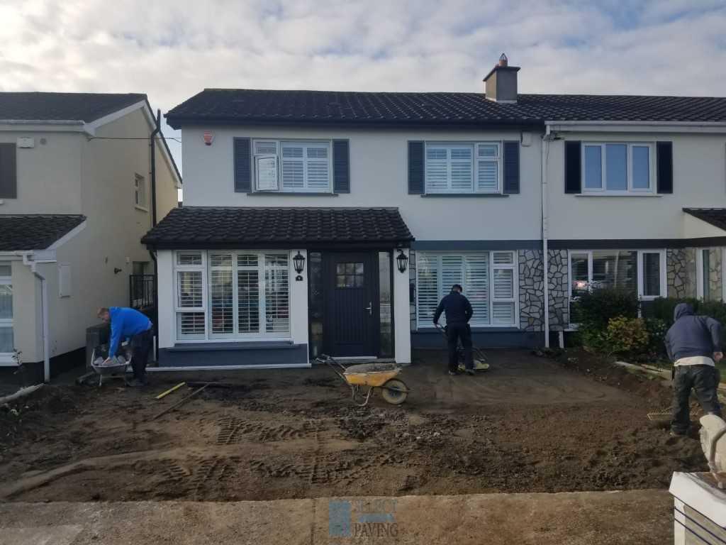 Replacing a driveway in Castleknock, Dublin.