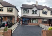 Asphalt Driveway with Granite Borderline in Palmerstown, Dublin