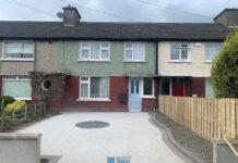 Driveway with Corrib Block Paving and Cobble Setts in Rathfarnham, Dublin