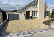 Gravel Driveway with Granite Borders in Sutton, Dublin
