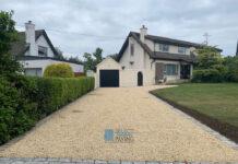 Gravel Driveway with Granite Cobbles for Apron in Sutton, Dublin