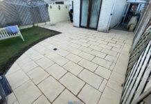 New Patio with Buff Granite Flagstones in Lucan, Dublin