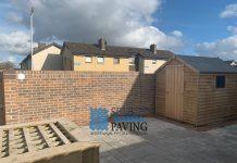 Belvedere Slab Patio with Brick Walls in Dublin