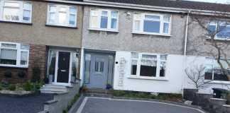 Corrib Driveway with Silver Granite Cobble Border in Coolock, Dublin