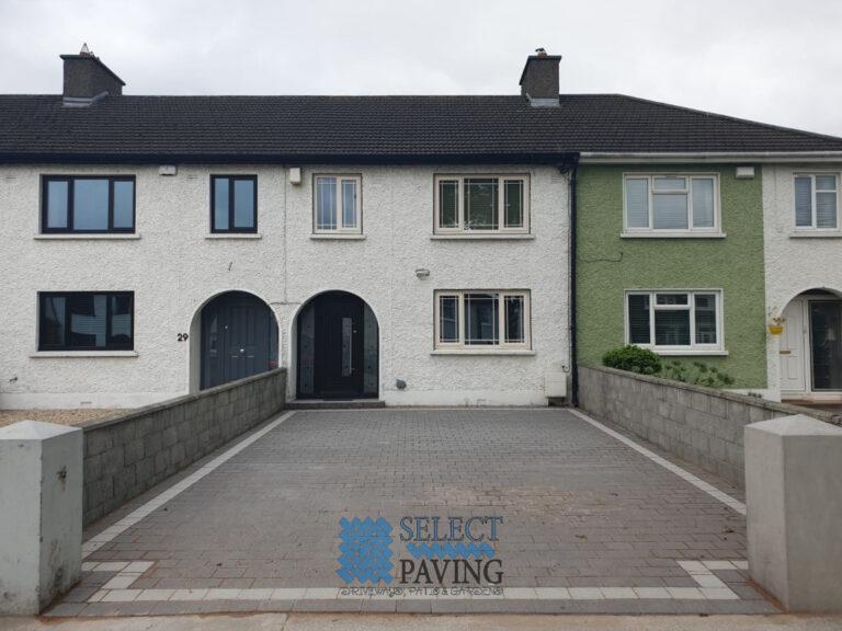 Grey Paving Brick Driveway in Stillorgan, Dublin